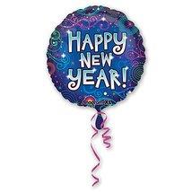 """Шар фольгированный 18"""" Новый год Фейерверк 46 см"""