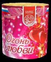 """Батарея салютов """"Огонь любви"""" 7 залпов, 1"""" калибр"""