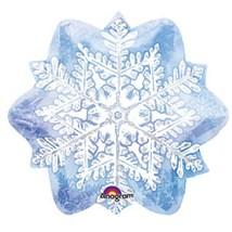 """Шар фольгированный 18"""" Новый год Снежинка 45 см"""