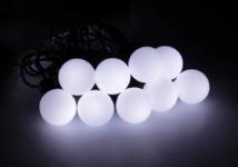 """Гирлянда """"Нить"""" с насадками """"Шарики Белые"""", 5 м, LED-20-220V, моргает, свечение мульти (RG/RB)"""