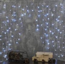 """Гирлянда """"Бахрома-арка"""", 1 х 1 м, LED-126-220V, 8 режимов, свечение тёплое белое"""