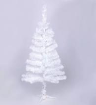 Ёлка белая 90 см, d нижнего яруса 43 см, d иголок 5 см, 90 веток, пласт подставка