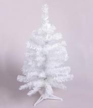 Ёлка белая 60 см, d нижнего яруса 34 см, d иголок 5 см, 60 веток, пласт подставка